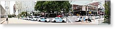 Nypd Cop Cars In Front Of Lincoln Center Acrylic Print by Nishanth Gopinathan