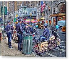 Nypd Highway Patrol Acrylic Print by Ron Shoshani