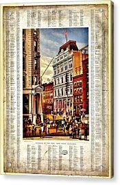 Nyse 1882 Acrylic Print by Benjamin Yeager