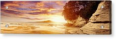 Nz Sunlight Acrylic Print by Les Cunliffe