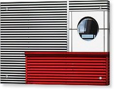 O & Lines. Acrylic Print by Harry Verschelden