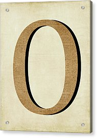 O Acrylic Print by Amy Cummings