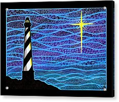 O Holy Night Hatteras Acrylic Print