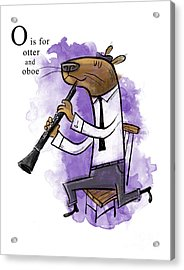O Is For Otter Acrylic Print