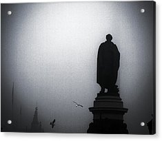 O O'connell Street Under Fog Acrylic Print by Patrick Horgan