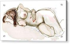 O Sleeping - Female Nude Acrylic Print