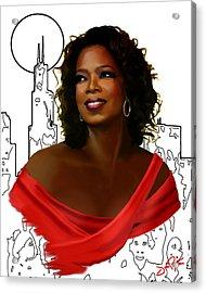 O Town Oprah Acrylic Print