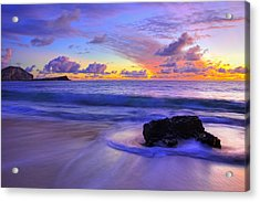 Oahu Sunrise Acrylic Print by Dustin  LeFevre