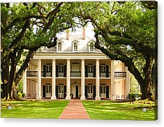 Acrylic Print featuring the photograph Oak Alley Mansion by Photography  By Sai