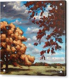 Oak At Fall Acrylic Print