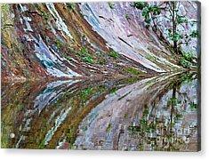 Acrylic Print featuring the photograph Oak Creek Canyon Reflection by Mae Wertz