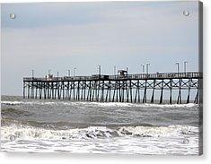 Oak Island Beach Pier Acrylic Print