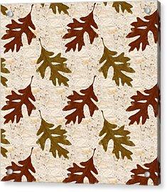 Oak Leaf Pattern Acrylic Print