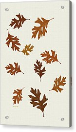 Oak Leaves Art Acrylic Print by Christina Rollo