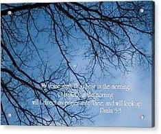 Oak Tree Psalm Acrylic Print