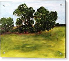 Oak Trees Acrylic Print by Andrea Friedell
