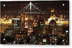 Oakland California Skyline Acrylic Print by Georgia Fowler