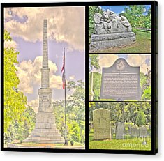 Oakland Cemetery Collage Acrylic Print