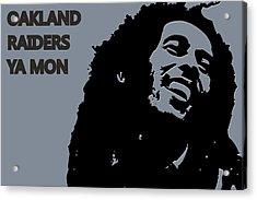 Oakland Raiders Ya Mon Acrylic Print