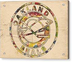 Oakland Seals Vintage Poster Acrylic Print