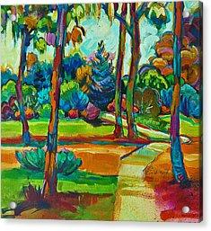 Oaks Landscape Detail Acrylic Print
