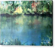 Acrylic Print featuring the painting Oasis by Mary Lynne Powers