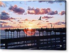 Acrylic Print featuring the photograph Ob Pier  by Gigi Ebert