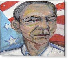 Obama 2012 Acrylic Print by Derrick Hayes