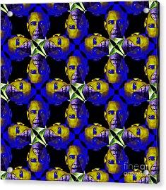 Obama Abstract 20130202m118 Acrylic Print by Wingsdomain Art and Photography