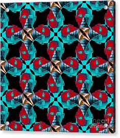 Obama Abstract 20130202m180 Acrylic Print by Wingsdomain Art and Photography