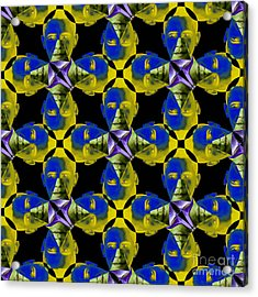 Obama Abstract 20130202p55 Acrylic Print by Wingsdomain Art and Photography