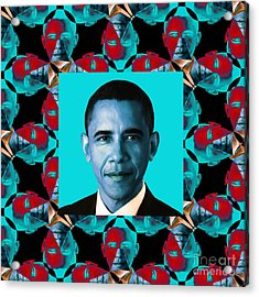Obama Abstract Window 20130202m180 Acrylic Print by Wingsdomain Art and Photography