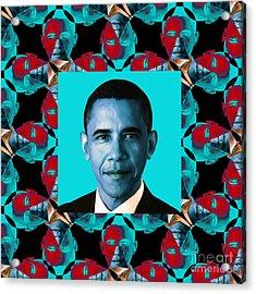 Obama Abstract Window 20130202m180 Acrylic Print