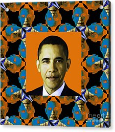 Obama Abstract Window 20130202p28 Acrylic Print by Wingsdomain Art and Photography