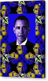 Obama Abstract Window 20130202verticalm118 Acrylic Print by Wingsdomain Art and Photography