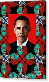 Obama Abstract Window 20130202verticalp0 Acrylic Print