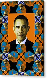 Obama Abstract Window 20130202verticalp28 Acrylic Print by Wingsdomain Art and Photography