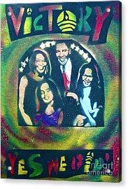 Obama Family Victory Acrylic Print by Tony B Conscious