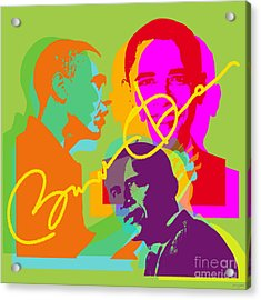 Obama Acrylic Print by Jean luc Comperat