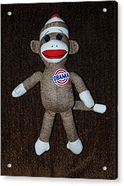 Obama Sock Monkey Acrylic Print by Rob Hans