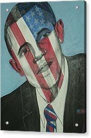 Obama Acrylic Print by Stanley Clark