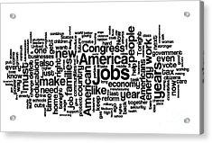 Obama State Of The Union Address - 2013 Acrylic Print