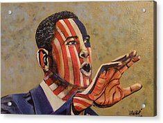 Obama...a State Of Mind Acrylic Print by James  Lalepop Becker