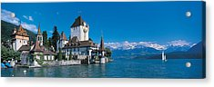 Oberhofen Castle W\ Thuner Lake Acrylic Print by Panoramic Images