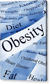 Obesity Concept Acrylic Print by Colin and Linda McKie