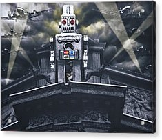 Obey Resistance Is Futile Acrylic Print by Larry Butterworth
