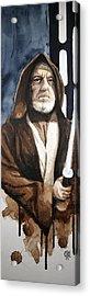 Obi Wan Kenobi Acrylic Print by David Kraig