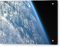 Oblique Shot Of Earth Acrylic Print by Adam Romanowicz
