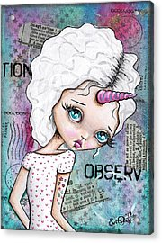 Observation Acrylic Print by Lizzy Love of Oddball Art Co
