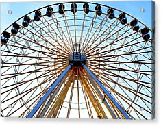 Observation Wheel Acrylic Print by Mary Beth Landis